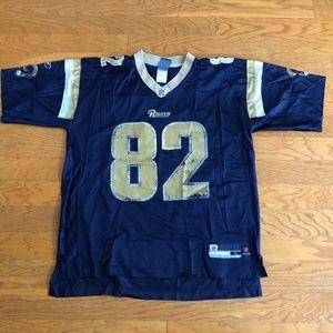 Reebok Dante Hall #82 St. Louis Rams Jersey